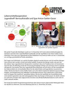 JUHU - der dritte Lebensmittelweitergabekreis in der Donaustadt hat am 21.November 2013 gestartet! November, Joy, City, Projects, Life, November Born