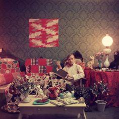 Slim Aarons: Truman Capote in His Brooklyn Heights Apartment, 1958.