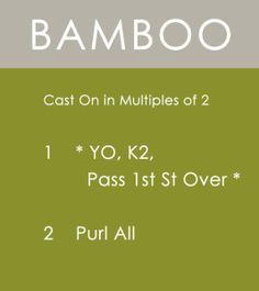 How to Knit the BAMBOO Stitch with Studio Knit