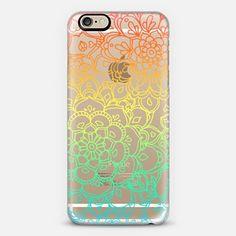 Rainbow Transparent Floral Doodle