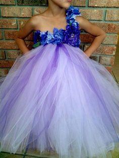 Flower girl tutu dress front