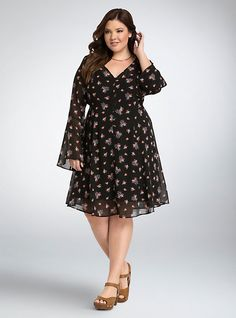 Fall Dresses, Cute Dresses, Casual Dresses, Fashion Dresses, Frock Fashion, Plus Size Dresses, Plus Size Outfits, Big Size Dress, Curvy Fashion
