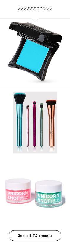 """""""เครื่องสำอาง"""" by mookkie-naruto ❤ liked on Polyvore featuring beauty products, makeup, eye makeup, eyeshadow, cosmetics, illamasqua, makeup tools, makeup brushes, brushes and multi"""