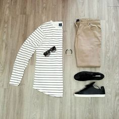 Stripe T-shirt Outfits For Men : how to wear stripe t shirt for men Mens Fashion Blog, Best Mens Fashion, Men's Fashion, Classic Mens Fashion, Fashion Ideas, Outfit Grid, Swagg, Shirt Outfit, Poncho Outfit