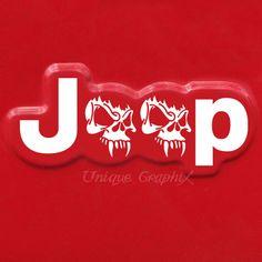Jeep Wrangler skull side fender Vinyl Decal by UniqueGraphix, $8.50