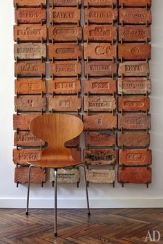 Wall full of Bricks from AD Magazine