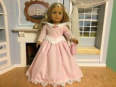 VICTORIAN-PINK-DRESS-PURSE-FITS-18-AMERICAN-GIRL-FELICITY-CECILE