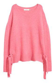 Jersey con tiras de anudar - Rosa - MUJER | H&M ES