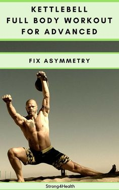 Kettlebell full body workout for intermediate and advanced lifters. Fix your asymmetries with unilateral exercises. Also, this is a great training to build muscle and lose weight.