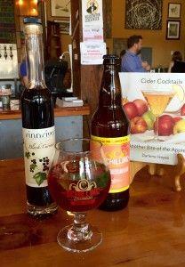 Blackbeard's Julep-Schilling Grapefruit Hard Cider, Finnriver Black Currant Brandy Wine, Mind Leaves, Lime Wedge, Salt