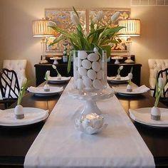 Easter Table Ideas, Asian, dining room, Benjamin Moore Grant Beige