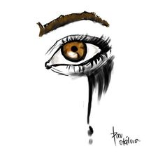 boyfriend, broken, cry, drawing, eye, miss you, sad, tears