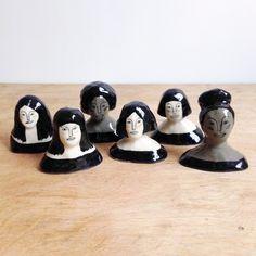 Ceramic Girl Faces b