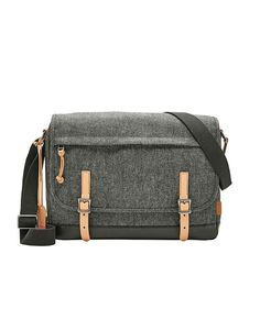 Fossil Defender Messenger MBG9319020 Bb Shop, Fossil Bags, Online Bags, Classic Looks, Chambray, Messenger Bag, Satchel, Mens Fashion, Leather