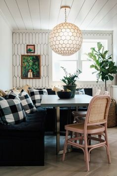 Home Interior Warm Our New Banquette Dining Space- Remodel Reveal - Nesting With Grace Banquette Dining, Dining Room Bench, Dinning Chairs, Dining Rooms, Cute Home Decor, Cheap Home Decor, Living Room Remodel, Kitchen Remodel, Kitchen Renovations
