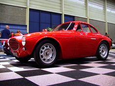 Frenched headlights. Italian car. Moretti (750?)
