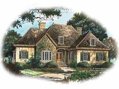 country french house plans | Plan W7606MC: French Country, Corner ...