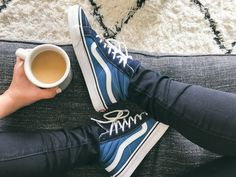 Fresh kicks and a fresh cup of coffee.