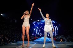 Ellen DeGeneres Wore A Sparkly Tutu While Joining Taylor Swift On Stage During Her Concert