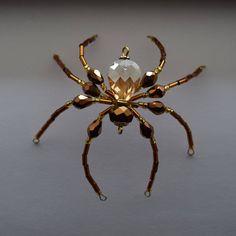 Beaded Christmas Spider/Good Luck Ornament/Christmas Spider