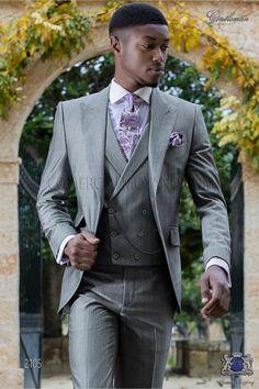 Traje italiano a medida gris claro mixto lana mohair alpaca. Traje de novio  2105 Colección d13c11317a5