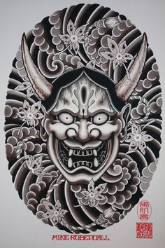 Asian tattoos, from classical tattoos to the latest minimalist ideas on the Asian market in the tattoo world, will be discussed in this category. Kunst Tattoos, Skull Tattoos, Tattoo Drawings, Body Art Tattoos, Hand Tattoos, Sleeve Tattoos, Hannya Maske Tattoo, Hannya Tattoo, Mask Tattoo