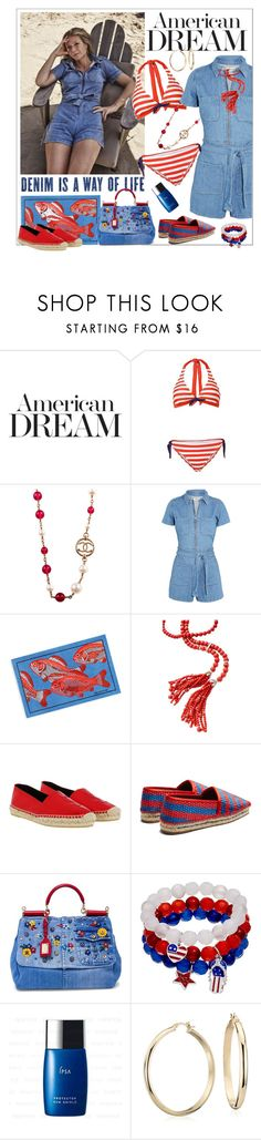 """""""American Dream"""" by sylandrya ❤ liked on Polyvore featuring Chanel, Madewell, Yves Saint Laurent, Balenciaga, Dolce&Gabbana, Blue Nile, celebrity, celebstyle and CelebrityStyle"""