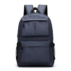 54d01708bbd Teen boys girls backpack schoolbag canvas Large black Men School Bags Usb  Charge 13.3 Laptop back pack male Women Book Bag 2018