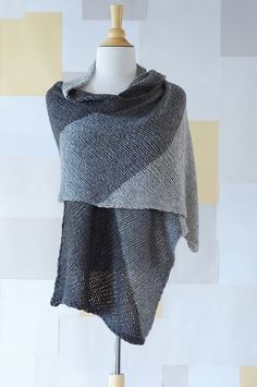 Ravelry: Color Block Bias Wrap pattern by Suzanne Shaw