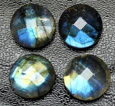 Natural Labradorite Blue Flash Faceted Star Briolette Matching Pair Beads