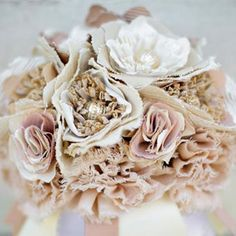 10 Vintage Inspired Wedding DIY Ideas- Fabric Bouquet