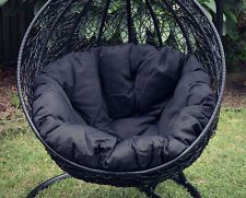 2013 BLACK Outdoor Wicker Hanging Egg Chair / Pod FREE BRISBANE PICK UP