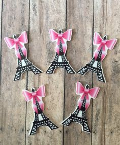Paris Theme party Eiffel Tower cupcake toppers by GlamGirlGoodies