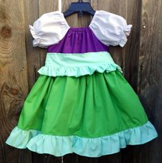 Ariel Everyday Princess Dress by MyOhSewSweetDesigns on Etsy, $40.00