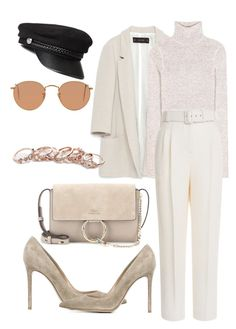 """""""Untitled #216"""" by veronice-lopez on Polyvore featuring Zara, Tom Ford, Emilia Wickstead, Gianvito Rossi, Chloé, GUESS and Ray-Ban"""