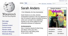 Check my results of Your Wikipedia Page Facebook Fun App by clicking Visit Site button