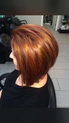 Copper Hair, Bob Cut, Bobs, Red Hair, Crimson Hair, Redheads, Red Heads, Ginger Hair, Red Scene Hair