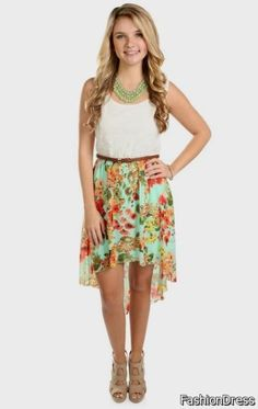 Nice high low dresses casual floral 2017-2018 Check more at http://24myfashion.com/2016/high-low-dresses-casual-floral-2017-2018/