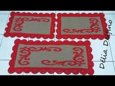 Rugs, Home Decor, Youtube, Crochet Border Patterns, Door Mats, Crochet Skull, Bedspreads, Needlepoint, Farmhouse Rugs