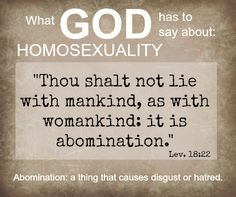 Homosexuality is a sin scripture