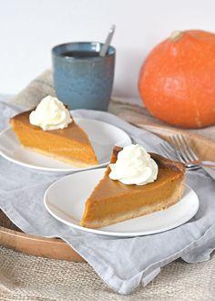 Pumpkin pie (pompoentaart) - Laura's Bakery High Tea, Cake Cookies, Panna Cotta, Thanksgiving, Pumpkin, Tasty, Sweets, Ethnic Recipes, Desserts
