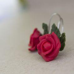 Náušnice - Rudé růže / Zboží prodejce Anna Concord | Fler.cz