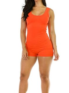 Maelove Women Sexy Sleeveless Tank Tops Bodycon Sports Jumpsuit Rompers ** Check out this great product.