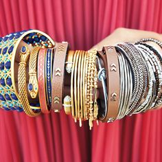 Sneak Peek: These stylish bracelets are made for stacking! Snap them up in January! #stelladotstyle