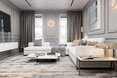 Interior design studio based in Kiev, Ukraine Apartment Interior, Apartment Design, Living Room Interior, Luxury Homes Interior, Luxury Home Decor, Interior Design, My Living Room, Home And Living, Living Room Decor