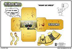 Papercraft Zombies : Hazmat Suit Harold!
