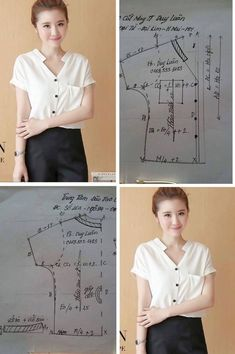 Sewing Blouse Collar 65 New Ideas Blouse Pattern Free, Blouse Patterns, Clothing Patterns, Top Pattern, Blouse Designs, Sewing Blouses, Sewing Aprons, Sewing Shirts, Easy Sewing Patterns