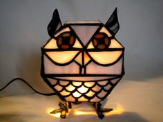 Stained Glass Owl Lamp
