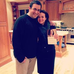 With Dave right after unwrapping the first copies of Lean In. Now it all begins! #tbt #throwbackthursday #leaningin