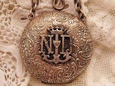 Beautiful monogrammed silver.